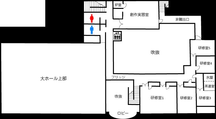 姫路市 北部市民センター 2階フロアマップ